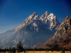 Postal: Montañas Grand Teton (Parque Nacional Grand Teton, Wyoming)