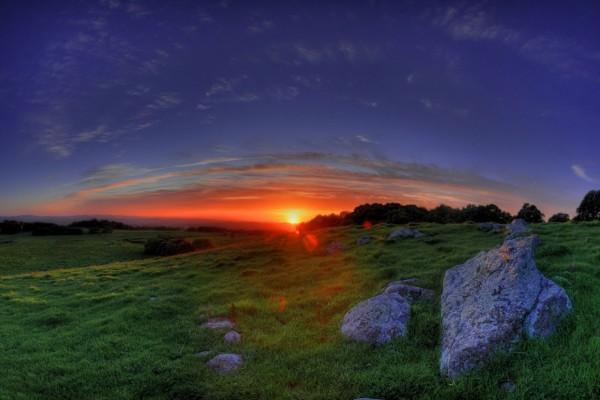 Maravillosa puesta de sol