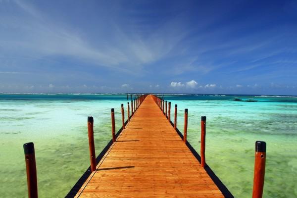 Admirando el paisaje sobre el mar