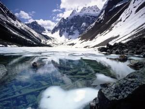 Postal: Lago en invierno