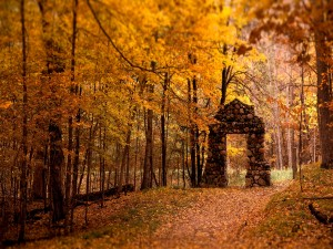 Postal: La puerta del otoño