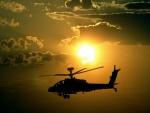 Helicóptero y el sol