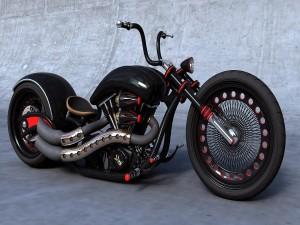 Una gran chopper negra