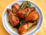 Muslos de pollo bien dorados