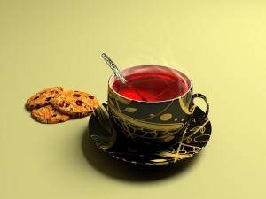Té rojo en una bonita taza