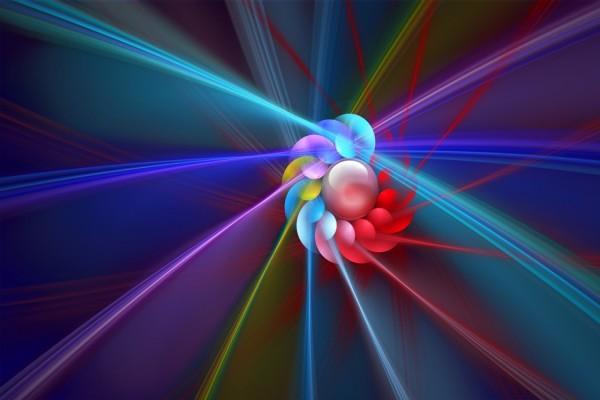 Espiral y rayos de color