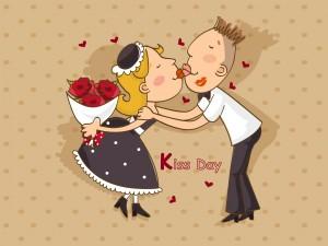 Postal: Día del Beso, 13 de Abril