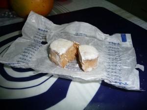 Polvorón dulce típico navideño en España