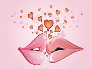 Postal: 13 de Abril Día Internacional del Beso