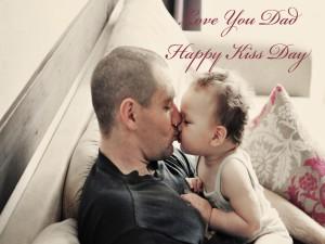 """Postal: Te amo papá """"Feliz Día del Beso"""" 13 de Abril"""