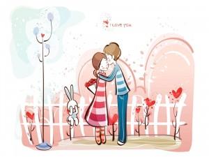 Jóvenes pensando en el amor