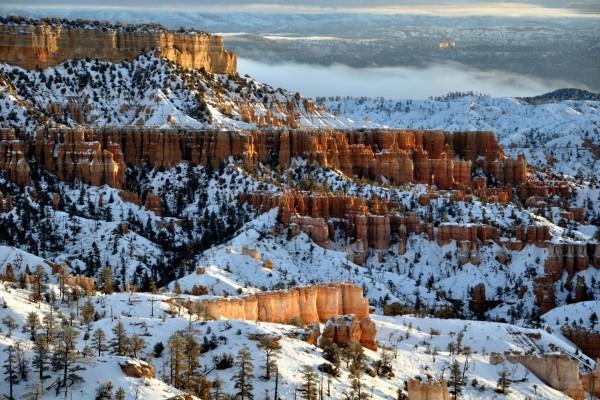 Un bello paisaje nevado