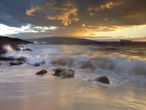 Postal: Piedras en la playa