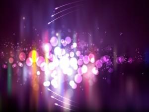 Postal: Círculos y puntos de luz