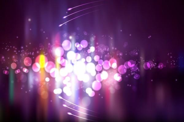 Círculos y puntos de luz
