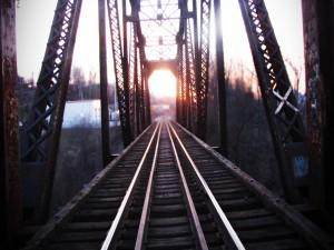 Postal: Vías en el puente