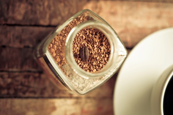 Un solo grano de café