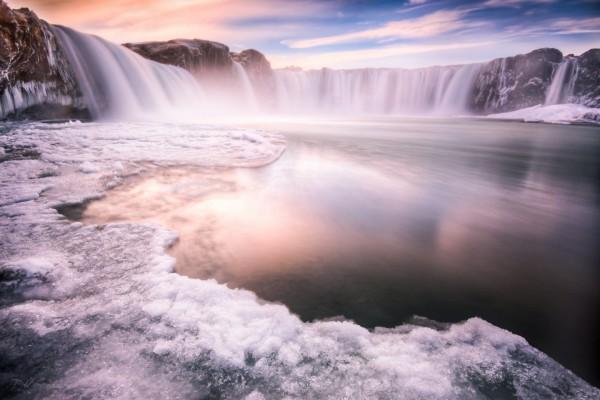 Cataratas en el hielo