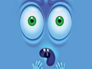 Cara de emoción en 3D