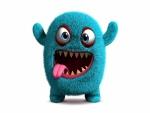 Monstruo mullido y divertido en 3D