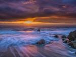 El mar y el cielo al atardecer