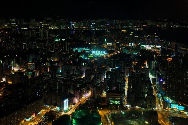 Hong Kong por la noche