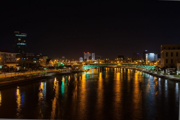 Puente Mong, en la ciudad Ho Chi Minh (Vietnam)