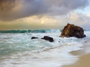 Las olas en el mar
