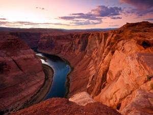 Vistas del río en el cañón