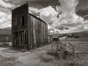 Postal: Viejo pueblo abandonado