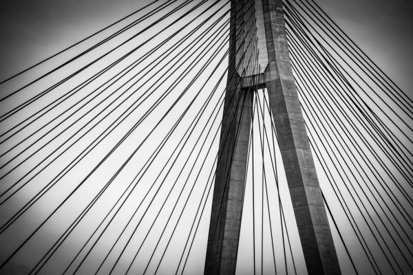 Parte superior de un gran puente