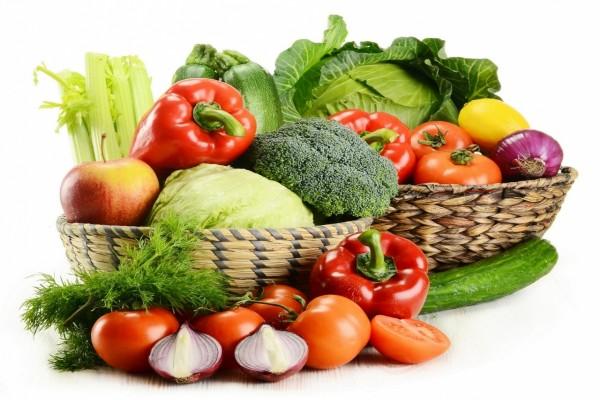Cestas con verduras