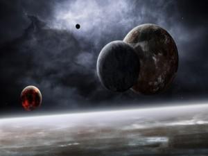 Postal: Planetas cercanos