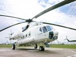 Helicóptero listo para emprender su viaje