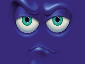Postal: Ojos que te miran en 3D