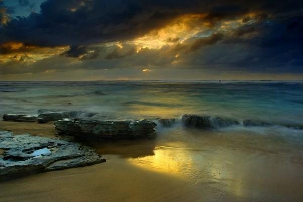 El mar visto desde la playa