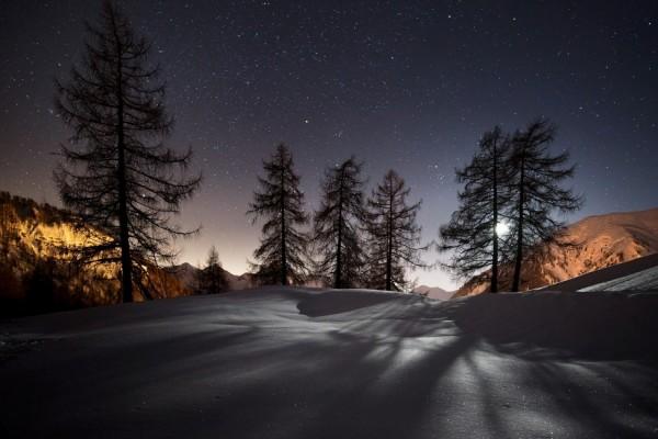 Cielo estrellado en una noche de invierno