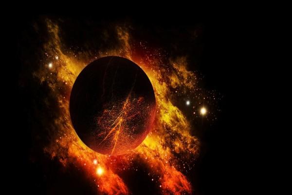 Planeta cercano a una nebulosa