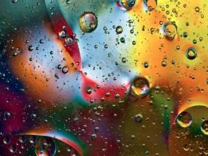 Gotas en un líquido