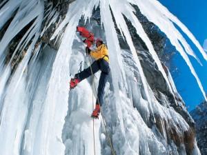 Postal: Escalada en el hielo