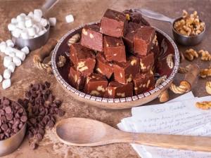 Chocolate casero con nueces