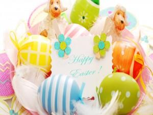 Bonita felicitación: ¡Feliz Pascua!
