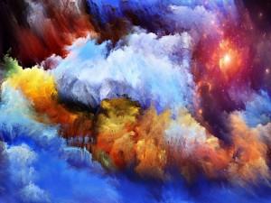 Luz, brillo y colores en el cielo