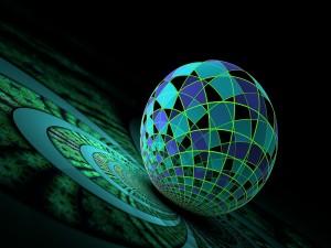 Postal: Esfera sobre la espiral