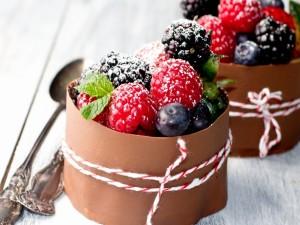 Postre de frutos rojos