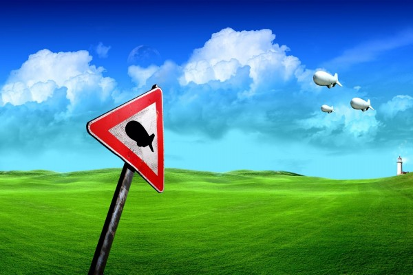 Atención: paso de dirigibles