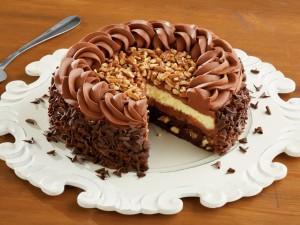 Postal: Capas de una deliciosa tarta de chocolate