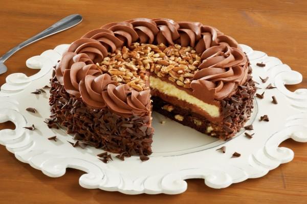 Capas de una deliciosa tarta de chocolate