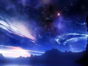 Postal: Cielo estrellado