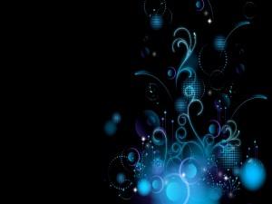 Diseño digital en tonos azules